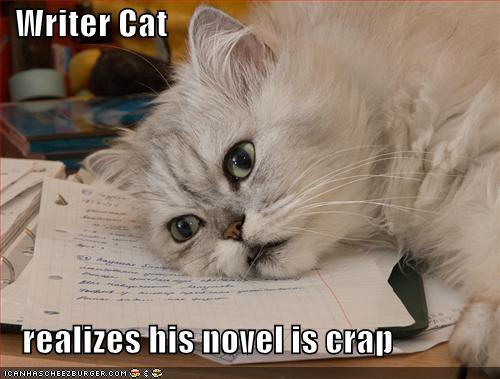 Writer Cat is frustrated