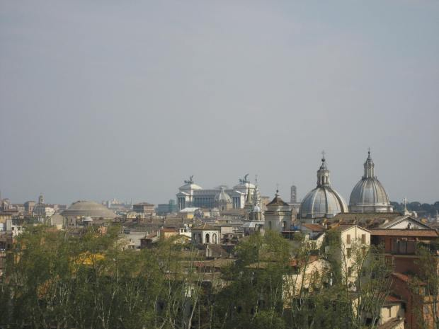 Also visible from the top of Castel Sant'Angelo is the Altare della Patria, a national monument. It's visible from many of Rome's hills, in fact.