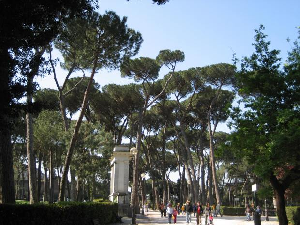 Tree-lined gravel paths that make you forget modern Rome? Yes please!
