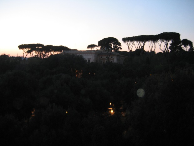 On our last night in Rome, the hubs (then the BF) and I walked up to Pincio Terrace, which has its owns set of stunning views of Vatican City, Piazza del Popolo, and beyond. But sometimes, you forget all the history and just savor the moment you're sharing with somebody you love.