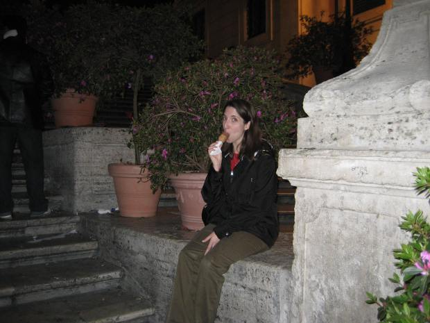 And I ate some gelato while sitting to one side of the Spanish Steps.